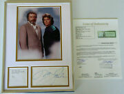 Michael Landon And Victor French Signed 12x16 Display, Highway To Heaven, Jsa Loa