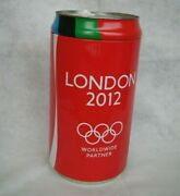 Large Coca-cola Coke London 2012 Olympics Can Tin Bin Container 25cm