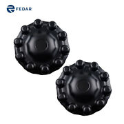 Black Axle Covers Spike With Diamond Covers-for Front Hub 2pcs