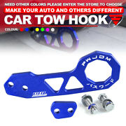 Universal Blue Jdm Style Aluminum Alloy Racing Car Rear Tow Hook For All Cars