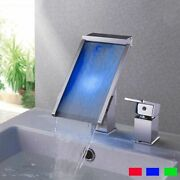 Bathroom Basin Tap Faucet Contemporary Single Handle Sink Waterfall Faucets New