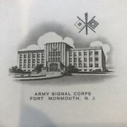 Army Signal Corps - Fort Monmouth , Nj - Blank Letterhead - Vintage