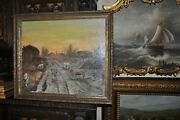 Lovely Large Antique Painting Of Farm Animals By Artist Odozilo