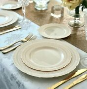 Occasions Vintage Bulk Wedding Party Disposable Plastic Plates And Silverware