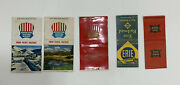 Lot Of 5 Vintage Railroad Ad Matchbook Covers Erie Rock Island Union Pacific