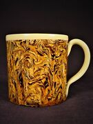 Extremely Rare 1800s Marbled Agate Cup Mocha Mochaware Yellow Ware Creamware