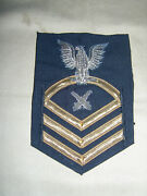 Us Navy Cpo Gunners Mate 12 Year Braid And Bullion Left Arm Rate