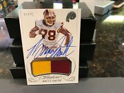 Panini Flawless On Card Autograph Jersey Redskins Bills Bruce Smith 11/25  2015