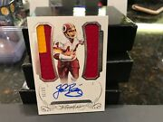Panini Flawless Silver On Card Autograph Jersey Redskins John Riggins 13/25 2015