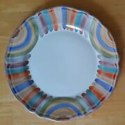Deruta Fima Marmo Large Round Serving Platter 13 Italy Multicolor Hand Painted