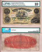 Very Rare 4 Known 1912 10 Bank Of Toronto Td Bank Large Size Note. Pmg Vg10