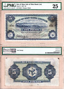 1927 Five Pounds Isle Of Man Bank Limited Douglas Bay Harbour Pmg Cert Vf25