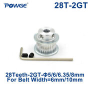 Gt2/2gt 28 Teeth Synchronous Timing Pulley Bore 5-8mm For Belt Width 6/10mm 28t