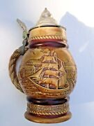 Avon 1977 Beer Stein Occupational Tall Ships Clipper Ship Sailing Vessels