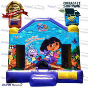 13x13ft Commercial Inflatable Dora The Explorer Bounce House With Air Blower