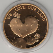 58th Israel Independence Day, We Love Our Land Official Medal 50mm Bronze