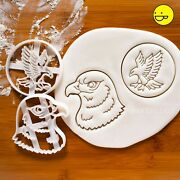2 Hawk Cookie Cutters Ornithology Flying Fly Bird Forest Wildlife Birthday Zoo