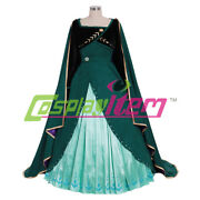 Anna Princess Dress Cloak Dress Adult Cosplay Costume Snow Queen Costume