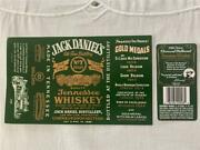 Jack Daniels Green Front And Back 750ml. 80 Proof Labels