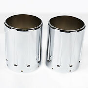 1pair Chrome Shallow Cut Exhaust Tips For Victory Hardball Cross Country Models