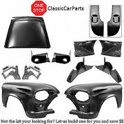 1955 Chevrolet Truck Fenders Extensions Seamless Hood Hinges Lower Pillar Patch-