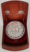 2000 1kg Coloured Silver 30 Sydney Olympic Coin Wooden Display Case Certificate