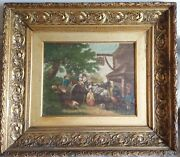 Antique Frame Hand-carved Gilded Wood With Period Gesso For An Oil Painting