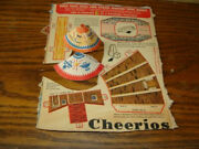 Vintage 1948 Cheerios Box Back Lone Ranger Frontier Town Complete