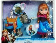 Disney's Frozen Toddler Anna Doll And Sven Olaf Friend Figure Brand New Doll Set
