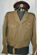 Casquette And Battle Dress Anglais Du Genie-army English Engineer Cap And Jacket