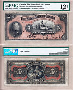 Scarce 1904 5 Home Bank Of Canada Issued Note. Pmg Fine 12.