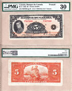 1935 5 Bank Of Canada Of Wales, French Variety. Pmg Vf30 Bc-6