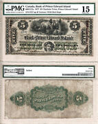 1877 5 The Bank Of Pei With Red C/c Overprint 600-12-12a. Pmg Choice Fine 15