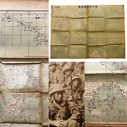 Wwii 1942 Japanese Southern Pacific Theater Map Captured Pearl Harbor Guam Relic