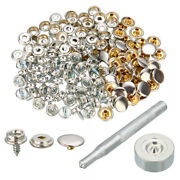 152x Boat Marine Snap Buttons Stud Canvas Cover Screw-in Repair Tools Set Kit