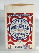 Antique Union Workman Chewing Tobacco Advertising Pouch Paper Bag Sample Size