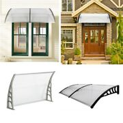 Durable Door Canopy Awning Front Back Patio Porch Shade Shelter Rain Cover Uk
