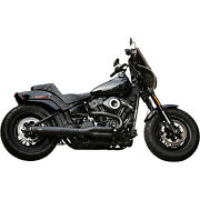 Sands 550-0789b Black W/ Black Tips 49-state Superstreet 2-in-1 Exhaust M8 Fat Bob