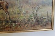 Tony Forrest Kudu Mana Pools Original Oil Painting Immaculate Condition
