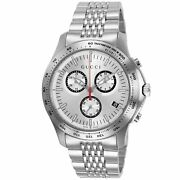 Ya126255 G-timeless 45mm Menand039s Chronograph Stainless Steel Watch