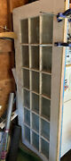 2 X Antique 94andrdquo Tall Solid Wood 18 Glass Panel Doors 1890and039s - Barn Find - Deal