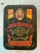 Jack Daniels Vintage Two 50ml. 90 Proof Bottles And Tin Box