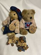 """Boyd's Bears """"sweethearts"""" Bailey And Friends Collection Plush Bears/ornaments"""