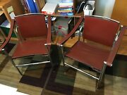 Pair Of Mid Century Le Corbusier Marked Lc1 Basculant Cassina Armchairsandnbsp