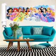 Princess Wall Stickers Decor Cartoon Wall Paper Decals Poster For Kids Rooms New
