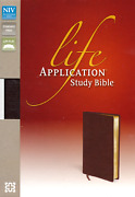 Niv Life Application Study Bible Bonded Leather Burgundy New In Shrink Wrap