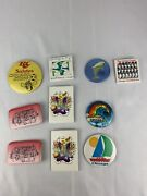 Vintage 1980s Lot Of 10 Chicago, Shedd Aquarium, Brookfield Zoo Pin Collection