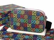 Gg Psychedelic Shoulder Bag 574886 Purse Multi Supreme Canvas Auth New