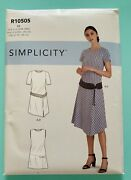 Simplicity Plus Size Dress And Belt Pattern Sleeve Variation S9100 R10505 20w-28w