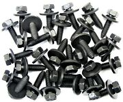 Body Bolts- M8-1.25 X 30mm Long- 13mm Hex- 24mm Washer- 30 Bolts- Ld166t